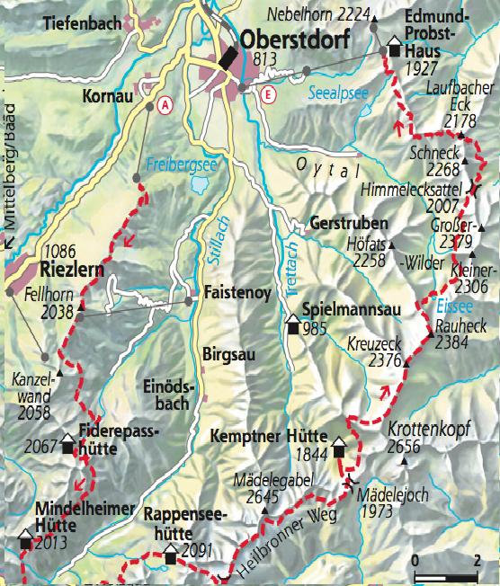 zumstein wanderkarte oberstdorf