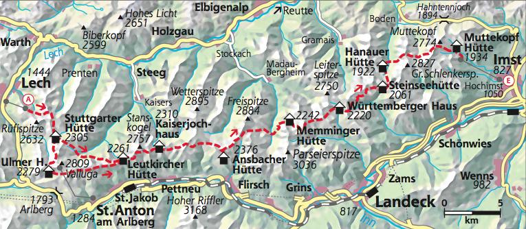 Huettentour Lechtaler Hoehenweg