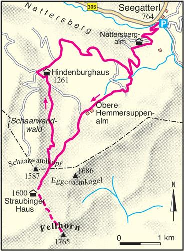 Seegatterl Straubinger Haus Karte