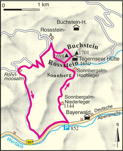 Wanderung Tegernseer Hütte Karte