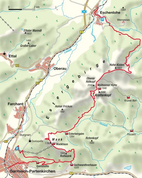 Ueberschreitung Estergebirge