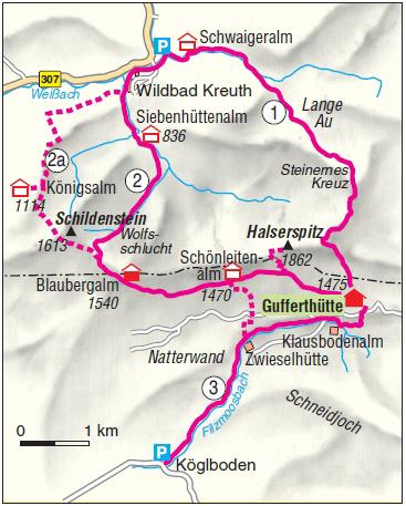 Guffetrhuette Tegernsee Karte